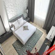 Trọn bộ chăn ga gối khách sạn thêu Hanvico Ks1