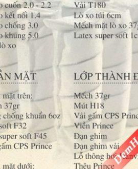 Đệm lò xo Hanvico Prince 1m8x2m dày 30cm